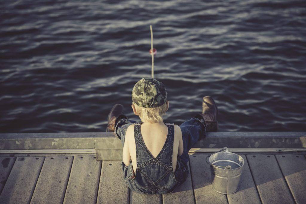 Pescar amb nens