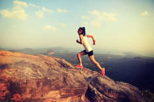 correr por la montaña