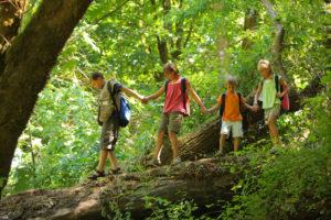 camping con actividades para niños