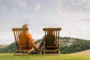 Relajación en pareja en la naturaleza