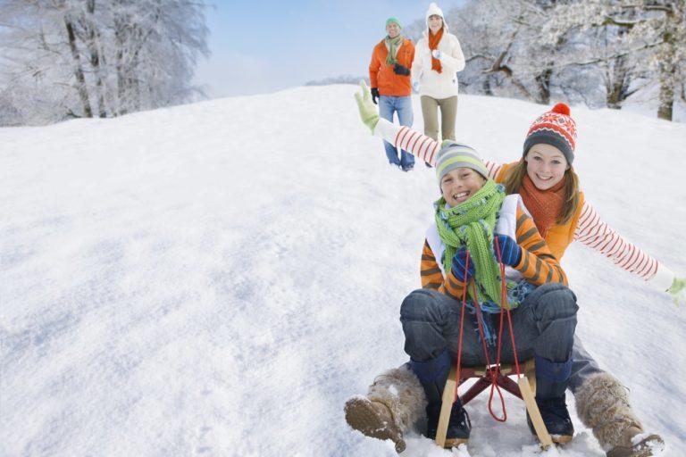 ir a la nieve con niños